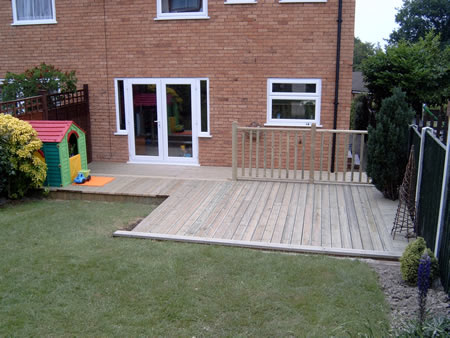 Greater driveways cheadle hulme decking for End of garden decking ideas